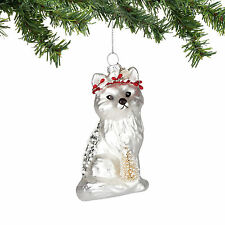 4054363 Fox Wth Tree Christmas Dept 56 Holiday Ornament Animal Winter