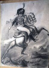 HUSSARD-EMPIRE-CHEVAL-GERICAULT-DESSIN-CHASAGNES 1884-NAPOLEON-GUERRE-