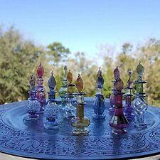 Egyptian-items Lot of 6 Tiny Mouth Blown Egyptian Perfume Bottles Pyrex Glass