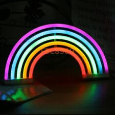 Battery Powered Usb Led Sign Neon Rainbow Home Shop Decoration Lamp Wall Lights