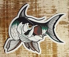 "Fishing Bumper Stickers Tarpon 4 1/2"" x 4"" decals saltwater fly fishing"