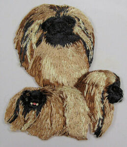 Pekinese dog heat seal embroidered badge