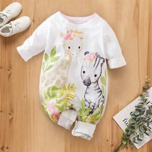 size newborn/0-3m/3-6m new baby coverall flower giraffe & zebra baby romper
