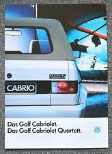 VW Golf Cabrio + Cabrio Quartett (Golf I) - Prospekt Brochure - 1989 - 32 Seiten