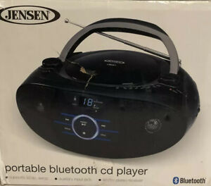 Jensen Bluetooth Portable Stereo Boombox CD Player AM/FM Radio AUX-IN Blue A5