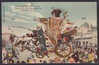 FRANCIA FRANCE NIZZA 12 NICE - CARNAVAL CARNEVALE Cartolina viaggiata 1912 CPA