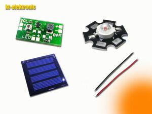Solar Tuning Bausatz für 1,2V Akku Solar-Leuchten, LED ORANGE 100mA Solarzelle