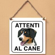 Bovaro dell'Entlebuch 1 Attenti al cane Targa piastrella cartello ceramic tile
