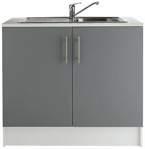 Athina 1000 Sink Unit Grey (WITHOUT SINK & TAP)