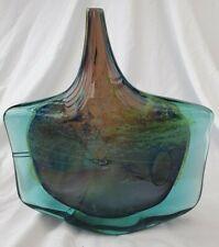 Mdina Glass Fish / Axe Head Michael Harris Piece highly sought after blue green