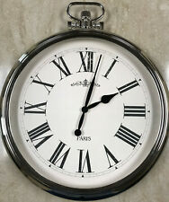 Large Round Pocket Watch Wall Clock