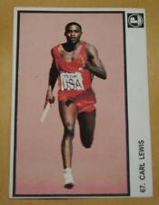 1985 Yugoslavia Pliva card #67 Carl Lewis USA Athletics Olympic Gold Running