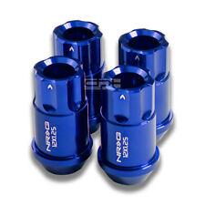 4X NRG M12 X1.25 EXTENDED ALUMINUM 12PT LUGNUT/RIM LOCK FOR SUBARU NISSAN BLUE