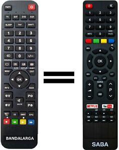 Telecomando gia' programmato per TV SABA SMART SA32S47N