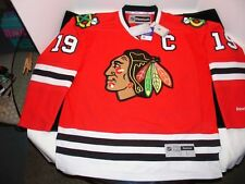 Chicago Blackhawks Red Premier NHL J Toews 19 Jersey Reebok Sz L New MSRP $215