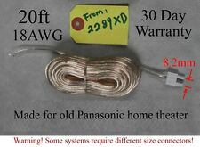1 20ft Speaker wire/cable 8.2mm plug made for select old Panasonic home theater