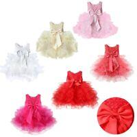 Baby Girls Princess Tutu Dress Infant Party Pageant Wedding Bridesmaid Birthday