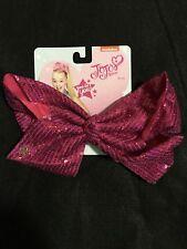 "JoJo Siwa 7"" fucha pink bow with sequins"
