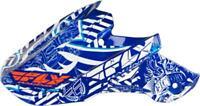 FLY RACING F2 VISOR (BLUE/WHITE) FLY F2 VISOR BLU/WHT