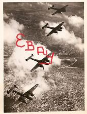 WWII 8X10 AERIAL PHOTOGRAPH OF GERMAN ME110'S BOMBING OVER ENGLAND 1940 LOOK
