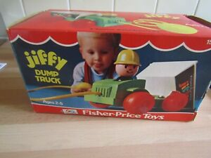 Vintage Fisher Price Jiffy Dump Truck Boxed 1970