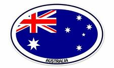 "Australia Flag Oval car window bumper sticker decal 5"" x 3"""