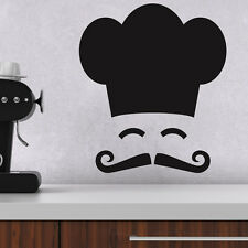Gorro de chef y bigote Cocina Pared Adhesivo Pared Adhesivo -