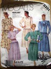 UNCUT Vintage McCalls Pattern Dress 3331 8 10 12