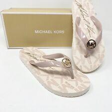 MICHAEL KORS Women's 11 BALLET PINK FLIP FLOP AUTHENTIC NEW JET SET MK SANDALS