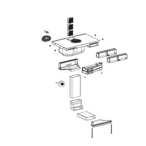 Elica umbausatz  Nikolatesla von Abluft auf Umluft  KIT0130427  A  Modell 2021 +