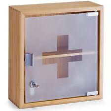 Medizinschrank Arzneischrank Apotheker Box Bambus Holz Hausapotheke