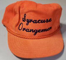 New listing Vintage Syracuse Orangemen Designed Award Headwear Corduroy Snap Back Hat.Rare