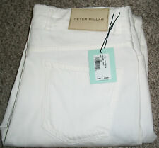 PETER MILLAR Collection Premium White Tailored Fit Stretch Jeans NWT 33x34 $198
