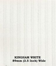 """KINGHAM WHITE  VERTICAL BLIND REPLACEMENT SLATS 89mm (3.5"""") WIDE"""