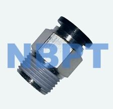 10 mm OD One Touch Push In Fitting  Straight Male  10 mm - R3/8,  NBPT 10 pcs