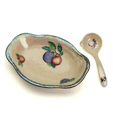 ART DECO CARLTONWARE PEARL LUSTRE EMBOSSED FRUIT BOWL c1925