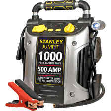 Stanley 1000-Amp Peak Jump Starter with Compressor Emergency Car Battery Air