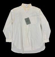 Yohji Yamamoto Pour Homme 1980's Stitched White Dress Shirt - Size M