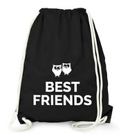 Turnbeutel - Beste Freunde Best Friends Geschenk - Gym Bag Moonworks®