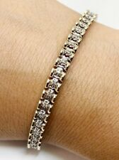 14k Yellow/white Gold 7 Ct. Diamond Tennis Bracelet