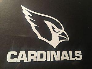 Arizona Cardinals 6 x 5 White Car Decal Sticker