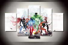Modern Abstract Oil Painting Wall Decor Art Poster  Movie character The Avengers