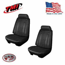 1971-1972 Chevelle Coupe Black Front/Rear Seat Upholstery by TMI - In Stock!!