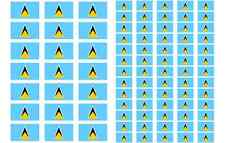 St. Lucia Flag Stickers rectangular 21 or 65 per sheet