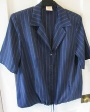 """Country casuals """" ladies navy striped top ( size 18 ) spring."""