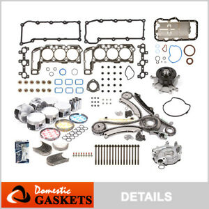 "02-03 Jeep Liberty Dodge Ram 1500 3.7L Master Engine Rebuilding Kit ""K"" Graphite"