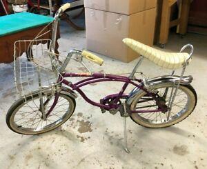 Schwinn Deluxe Stingray Bike Bicycle 1966 Original Parts - Violet paint