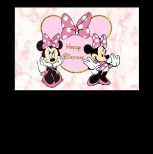 Minnie mouse 125 x 80 cm vinyl Photo Background Birthday Party decoration