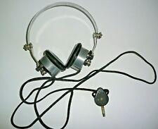 ancien casque écouteur radio TSF 8000Ω,  4000 Ω X 2, galène...