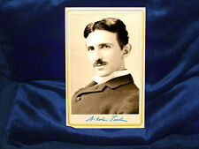 NIKOLA TESLA Inventor Genius Cabinet Card Photograph Vintage CDV